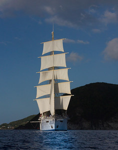 Star Clipper under full sails
