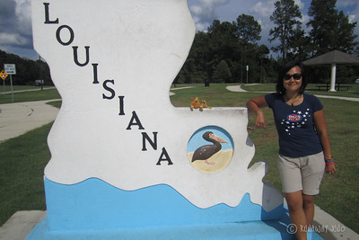 State Sign Louisiana USA