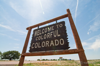State Sign Colorado USA