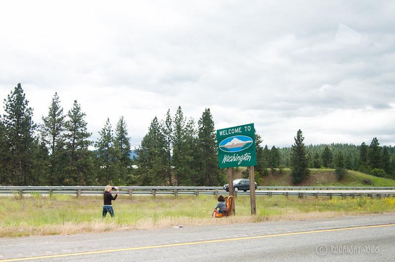 State Sign  Washington USA
