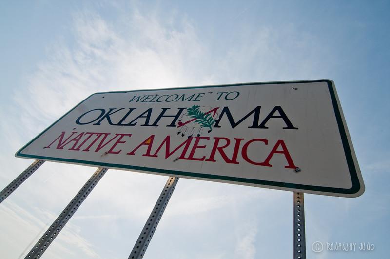 State Sign Oklahoma