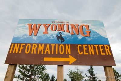 Wyoming State sign USA