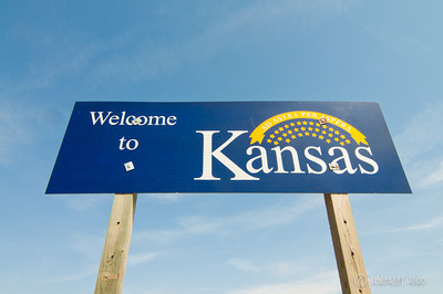 State Sign Kansas USA