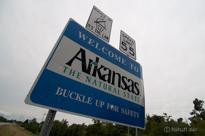 State Sign Arkansas USA