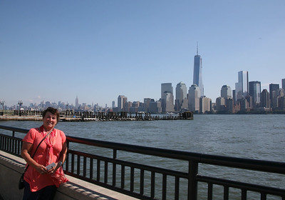 Denyse with NYC and the Freedom Tower