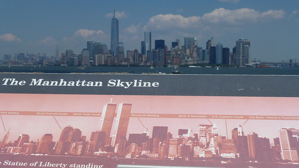 The below picture of the Manhattan Skyline (with the twin towers), and the above with the new One World Trade Center (formerly known as the Freedom Tower).