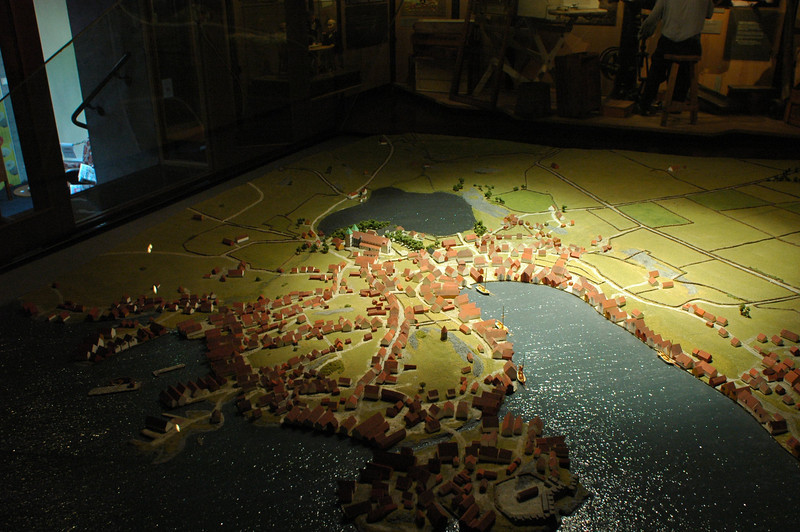 "3-D Model of Stavanger in the ""old days""."