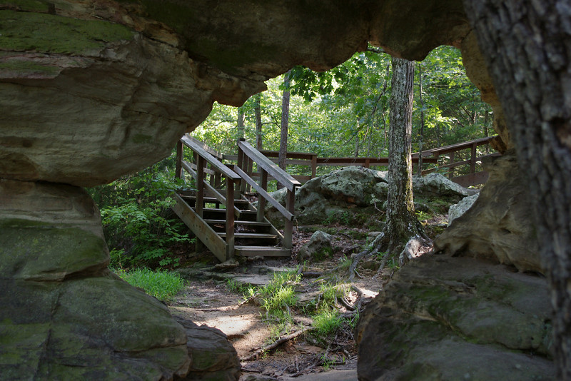 Trail - Pickle Creek Natural Area near Ste Genevieve, Missouri.