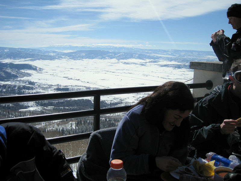 Lunch outside on the mountain.