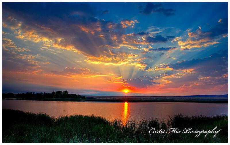 Sunrise at Benson pond.