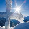 Am Gipfel des Fleckners (2.331m); im Hintergrund das tief gelegene Passeiertal