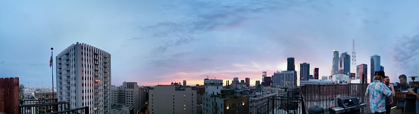 Sunset from our rooftop deck