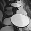 Cafe tables, Paris France 2001