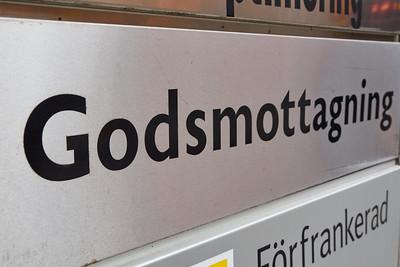 Godsmottagning. Stockholm 2014