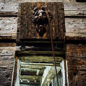 Cannon Door. Wasa-museum. Stockholm 2014