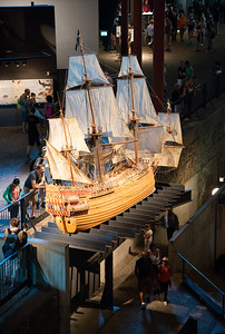 Replica of Vasa at the Vasa Museum (Vasamuseet), Galärvarvsvägen, Stockholm, Sweden which is a museum with a well-preserved, 17th-century warship, Vasa, that sank on her maiden voyage in 1628.