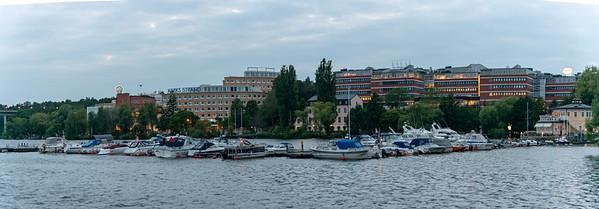 Panoramic image at Alvik, Bromma stadsdelsförvaltning, Gustavslundsvägen, Bromma, Stockholm, Sweden