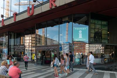 Stockholm Visitor Center,  Sergel Fountain, Sergelfontänen, Sweden.