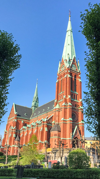 One of many large Cathedrals in Stockholm
