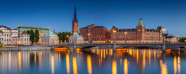Panorama of Stockholm.