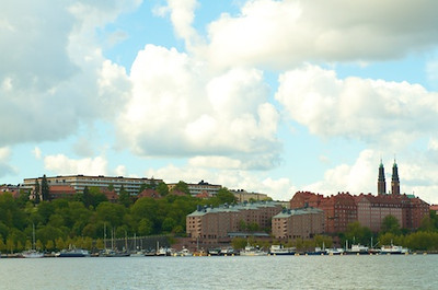 Looking across Lake Mälaren
