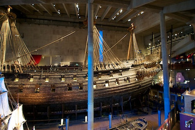 Swedish Warship Vasa http://en.wikipedia.org/wiki/Vasa_(ship) it didn't make it out of the harbor before it sank on it's maiden voyage...