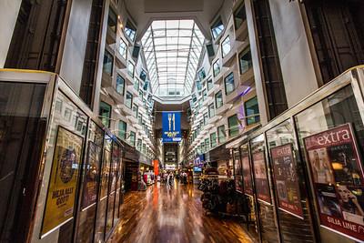 The Promenade had shopping and restaurants