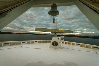 Radar and a bell on the Ship