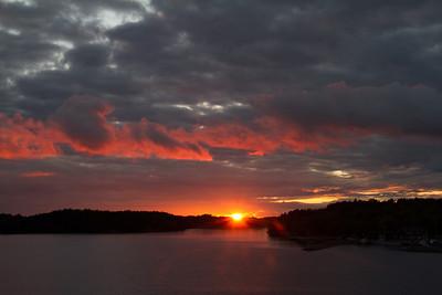 Sunset on Silja Symphony