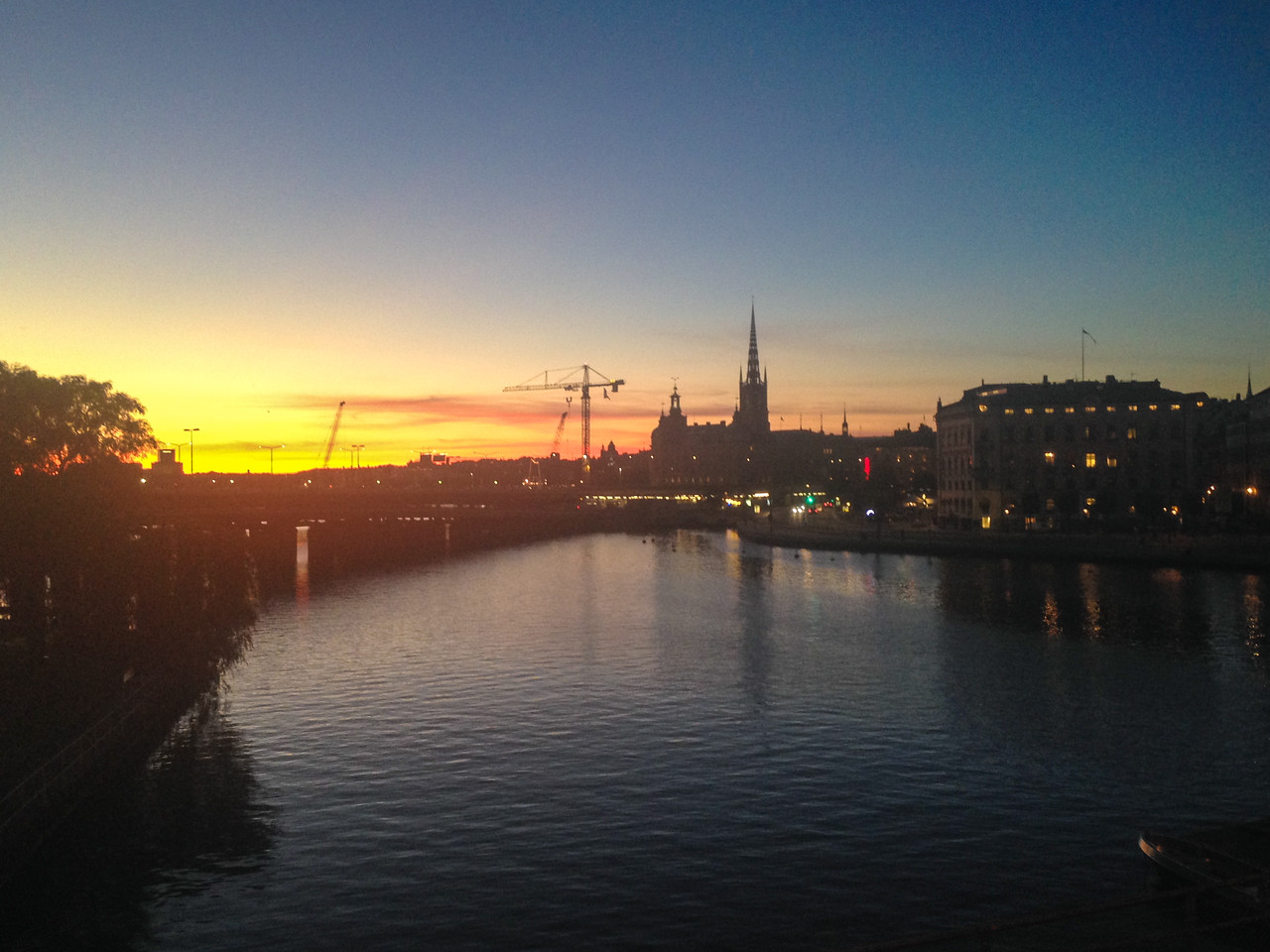 Sunset last night in stockholm