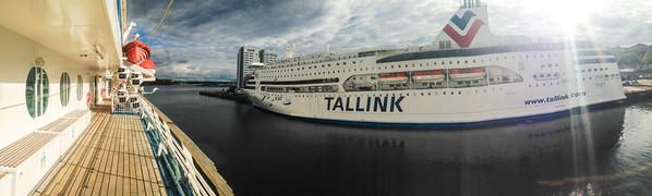Sister ship at dock