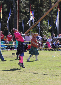 tossing the caber takes a real talent and brute strength
