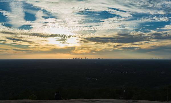 Stone Mtn Sunset 10-21-17