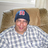 Dad wearing his new Red Sox hat