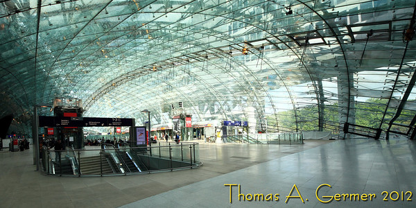 The long distance train station (Fernbahnhof) at the Frankfurt Airport.