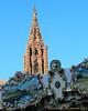 Cathédrale Notre Dame de Strasbourg from the Carrousel de la place Gutenberg.