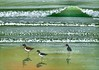 Tiny watercolor of oystercatchers I bought at Covent Garden