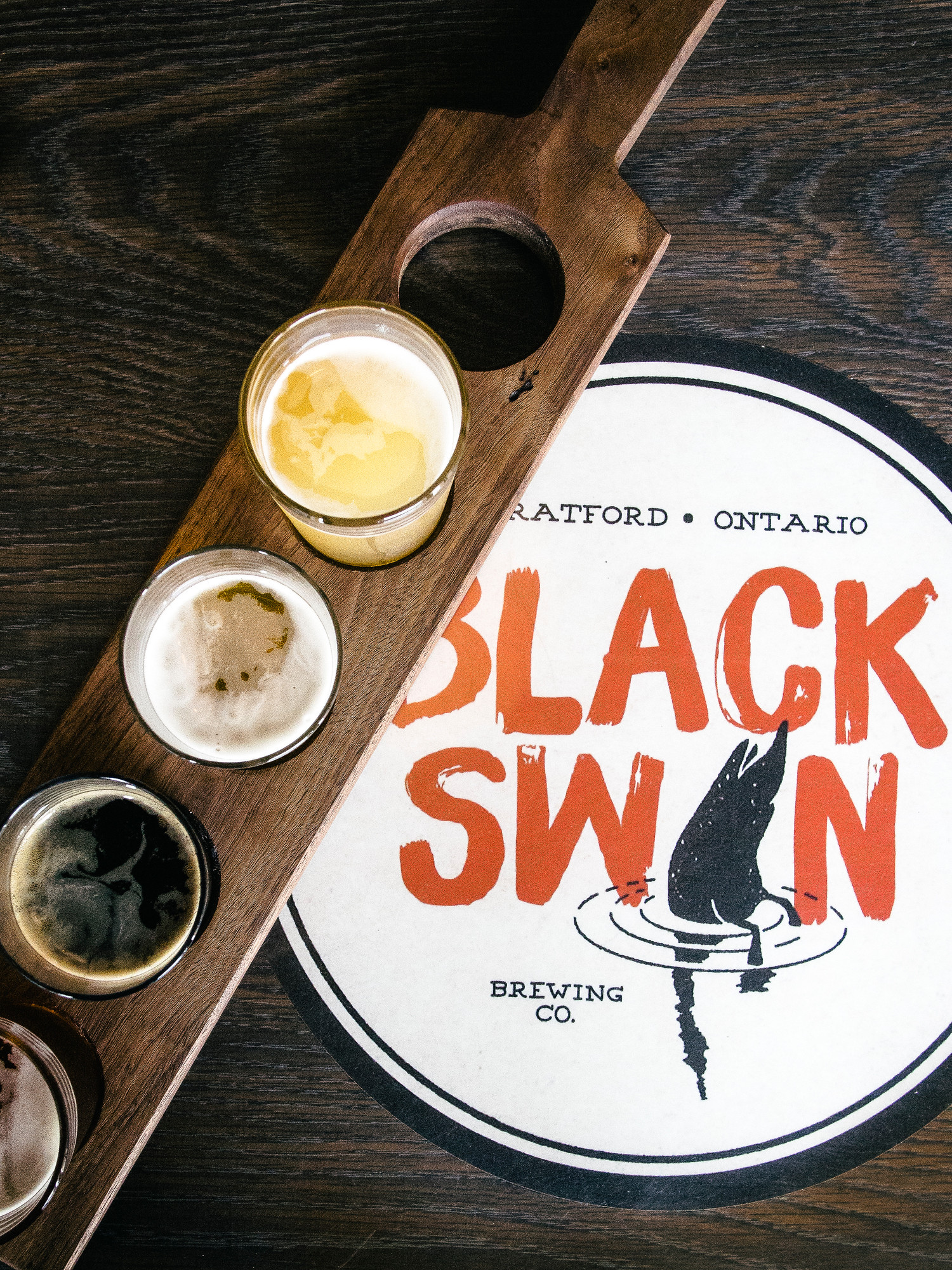 The Stratford bacon and ale trail includes great breweries like Black Swan located downtown Stratford.