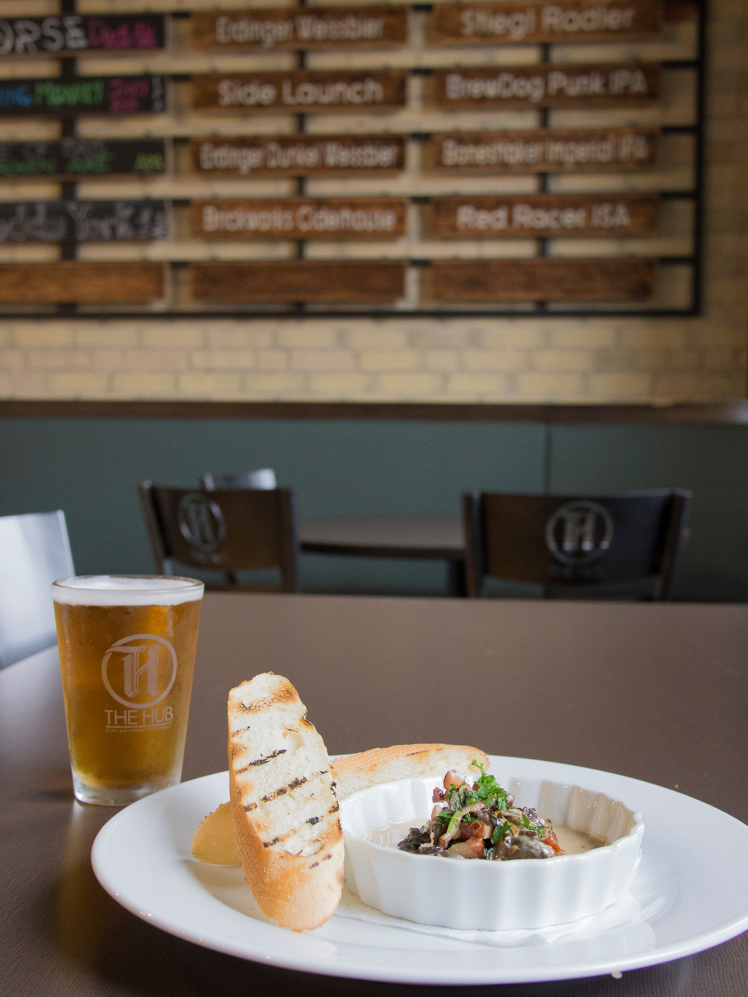 The Hub is one stop on the bacon and ale trail in Stratford Ontario, discover the other 12 stops.