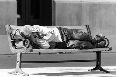 Asleep on the Park Bench