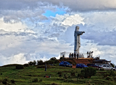 Due respects to the original but Jesus overlooking the city of Cusco