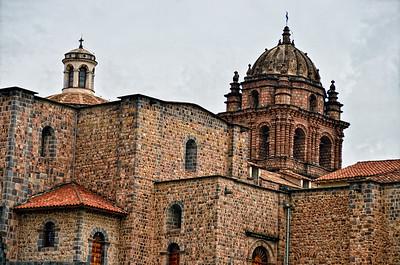 Quoricancha a- original Sun Temple now a monastery/ convent