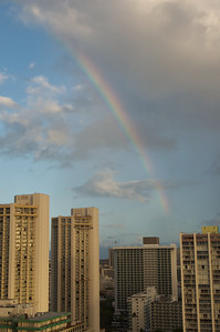 Rainbow Over Waikiki