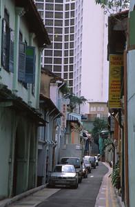 Older Singapore Abuts the Modern