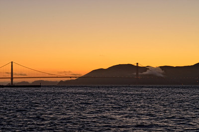 Golden Sunset , Golden Gate