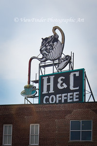 Landmark H&C sign in Roanoke, VA, erected in 1948.