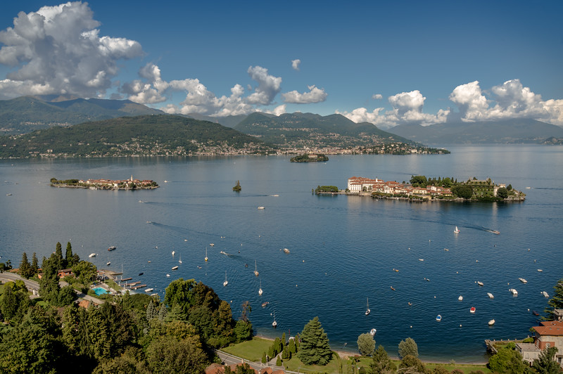 Isola Bella, Isola Pescatori and Isola Madre, Lake Maggiore from Mottarone