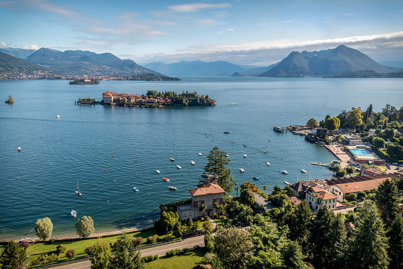 Isola Bella and Lake Maggiore from Mottarone