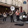 Everyone's enjoying the street musicians