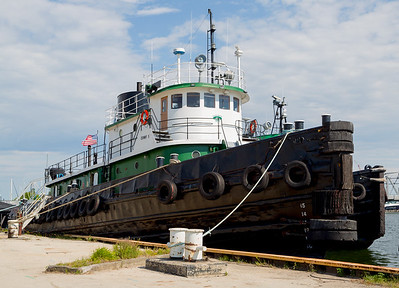 One of the nine tugboats berthed next to the Museum